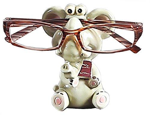 CHICOLY Elefant-Harz-Brillen-Halter, Tier-Schauspiel-Halter-Brillen-Ausstellungsstand-Sonnenbrille-Halter-Ausgangsdekoration