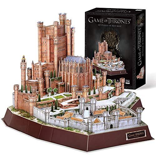 CubicFun Game of Thrones Puzzle 3D The Red Keep (Got) Modelo Kit Regalo para Adultos y niños Mayores de 8 años, Song of Ice and Fire, 314 Piezas