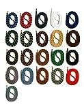 SNORS - Schnürsenkel - SICHERHEITSSENKEL 21 Farben, 4 Längen, ca. 5mm - RUNDSENKEL für Arbeitsschuhe, Wanderschuhe, Trekkingschuhe