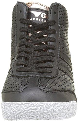 Gola Harrier High Glimmer Leather, Baskets Basses Femme Noir - Schwarz (Black/Rose Gold)