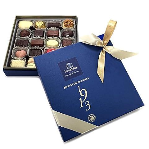 Belgian Chocolate, Luxury Leonidas Gift Box, 16 Assorted Milk, Dark & White Chocolates with 100% Pure Cocoa Butter (420g)