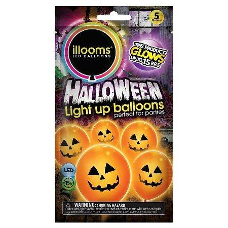 Neue Packung von 25 Kürbis Illoom Light up LED Ballons Halloween Ballons Packs von 5 bis 50 Spooky wie gesehen auf Dragons den Light up Ballons Party Dekor Luminous Ballons