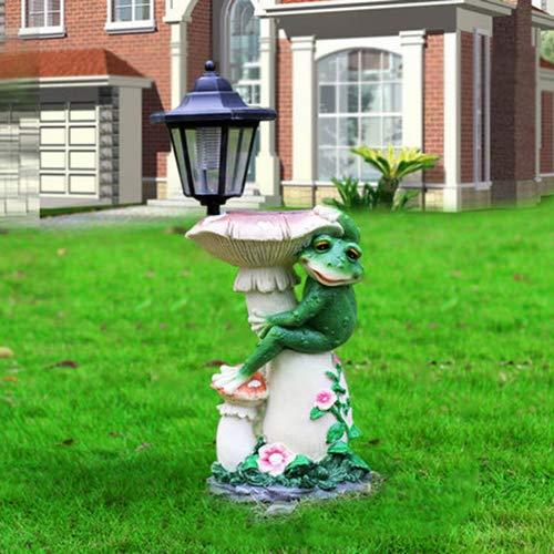 SXFYHXY LED Solar Light Garden Animal Frog Design Lampe mit Bird Feeder Lawn Lights Decoration Outdoor Lighting,B,46X19X17CM -