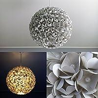 Grey Pearlflower, graue Lampe Leuchte Lampenschirm Pendelleuchte Pendellampe Hängeleuchte Hängelampe Papierleuchte Papierlampe Reispapierlampe Designerlampe Wohnzimmerlampe Schlafzimmerlampe Deckenlampe