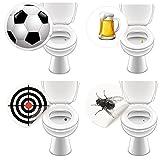 8 x Aufkleber WC GASTRO, Toilettensticker lustig Pissoir Kneipe Bad Toilette - LK-Trend & Style
