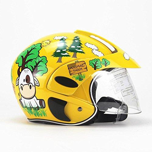 duhe189014 Casco Moto per Bambini, Quattro Stagioni personalità per Bambini Casco di Sicurezza per Bambini per Le Ragazze del Ragazzo Equitazione Pattinaggio Moto