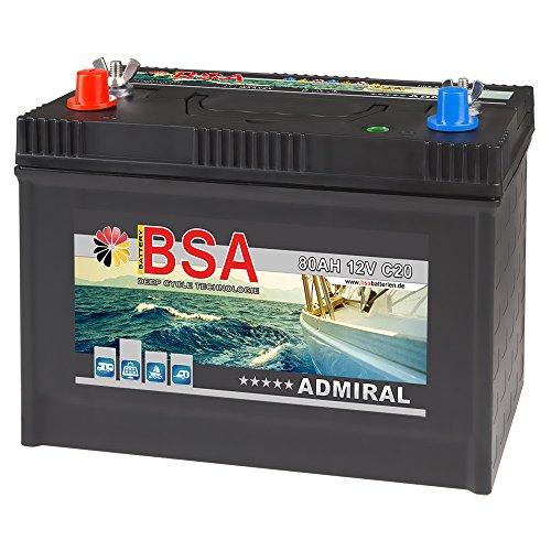 BSA Bootsbatterie 12V 80Ah Batterie Boot Schiff Rangier…   04260367094227