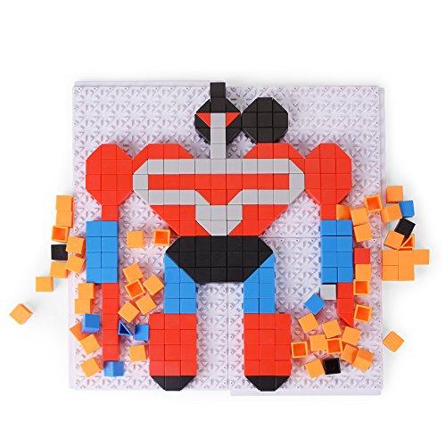 NextX 319 Stück DIY Bausteine Spielzeug 3D Rahmen puzzle Kinderspielzeug ab 3 Jahren - Deformationsreihe mit 4 Patterns Weihnachtsgeschenk