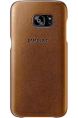Samsung Coque en cuir pour Samsung Galaxy S7 Marron