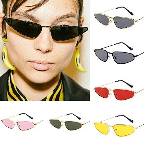 Galleria fotografica Topgrowth Occhiali da Sole Unisex Piccola Cornice UV 400 Sunglasses Vintage Retro Occhio di Gatto Cat Eye