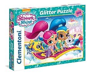 Clementoni-Los Pingüinos De Madagascar Puzzle Glitter 104 Piezas, Shimmer and Shine (27991)