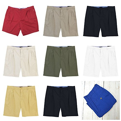Club Room Macy's New York Mens Pleat Front Smart Chino Cotton Shorts