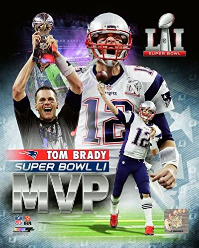 The Poster Corp Tom Brady Super Bowl LI MVP Portrait Plus Photo Print (20,32 x 25,40 cm) -