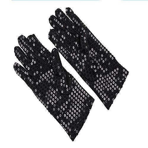 XIHAA Gold Paillettenhandschuhe für Kinder/Erwachsene, MJ-Sängerhandschuhe, Glitter reflektierende -