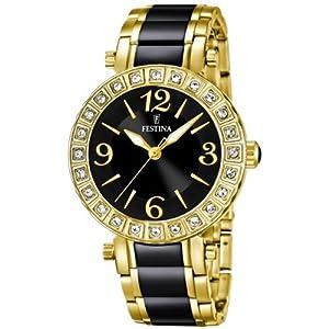 Reloj FESTINA F16644/2 de cuarzo para mujer con correa de acero inoxidable, color negro de FESTINA