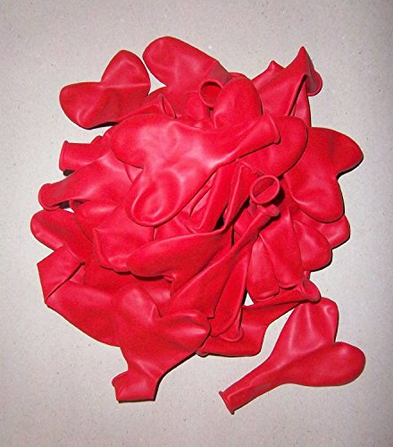 25 rote Herz-Luft-Ballons-Feier-Deco-Geburtstag-Fete-Helium-geeignet EU Ware vom Sachsen Versand