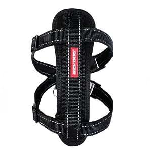EzyDog Classic Chest Plate Harness, Medium, Black