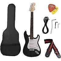 ammoon ST Eléctrico Guitarra Tilo Cuerpo Diapasón de Palo Rosa con Bolsa Recoge Correa