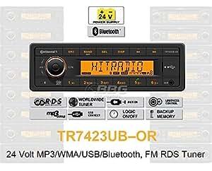 24 V camion radio rDS bluetooth mP3/wMA tuner bus uSB 24 v truck & tR7423UB-oR