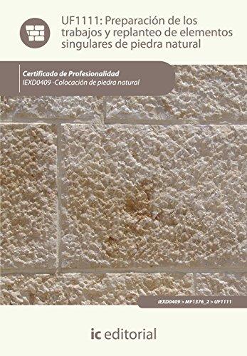 Descargar Libro Preparación de los trabajos y replanteo de elementos singulares de piedra natural. iexd0409 - colocación de piedra natural de Raúl Canedo Aceituno