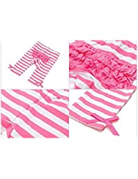 Mud Pie Under The Sea Baby Girl Playground Shorties Striped Hot Pink (2 T)