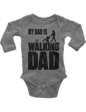 Mikalino Babybody My Dad is the Walking Dad langarm