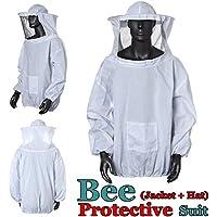 Bee Suit, OUTERDO Protective Beekeeping Veil Smock Beekeeper Suit Coat Jacket Equipment with Hat