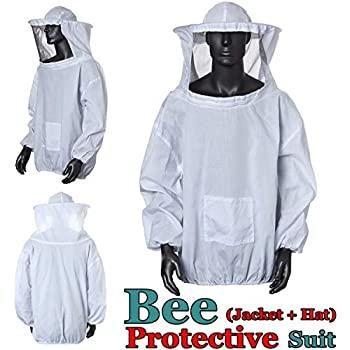 165-175CM PROTEAR Beekeeping Suit,Super Thick Beekeeping Suit Foldable Fencing Veil Coverall Bee Protecting Suit Smock with Front Zipper L