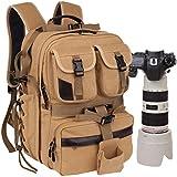 CAREELL C007DSLR Camera Sac à dos pour ordinateur portable multifonctionnel Toile Sac à bandoulière