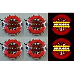 6x 42LED neon posteriore del telaio combinazione coda luci lampade 12V 24V E-mark rotondo con indicatore dinamica camion rimorchio Bus caravan camper