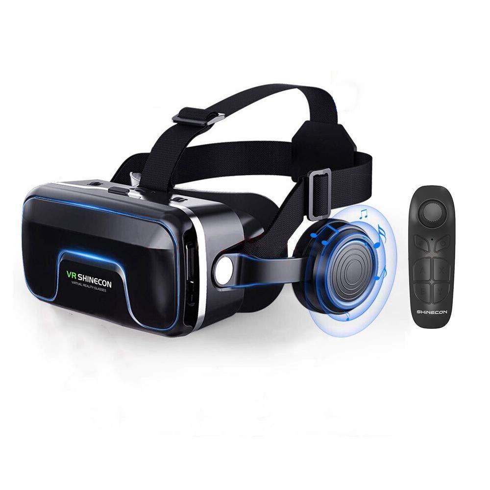 DJGHPWP VR Google Cardboard VR shinecon Version Pro VR Lunettes de réalité virtuelle VR + Télécommande sans Fil Bluetooth Intelligente Gamepad