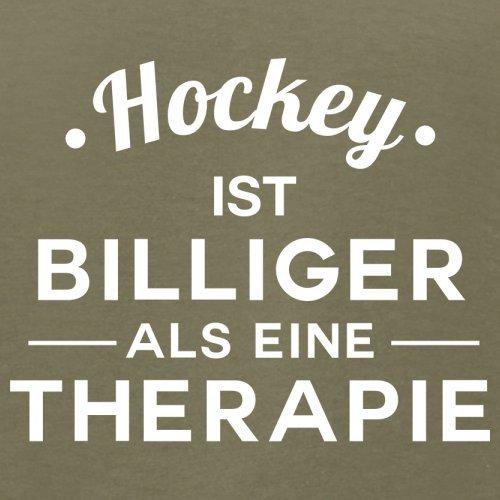 Hockey ist billiger als eine Therapie - Herren T-Shirt - 13 Farben Khaki