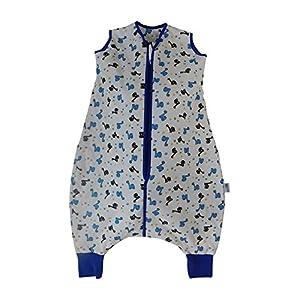 Slumbersac – Saco de dormir estándar con patas de 2,5 tog, dinosaurio, varios tamaños blanco blanco Talla:3-4 años