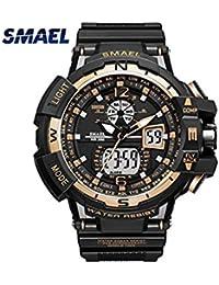 smael serie deporte hombres relojes S golpes marca reloj Relogio Militar  Hombres Reloj De Pulsera Cuarzo 2cf65c393d3