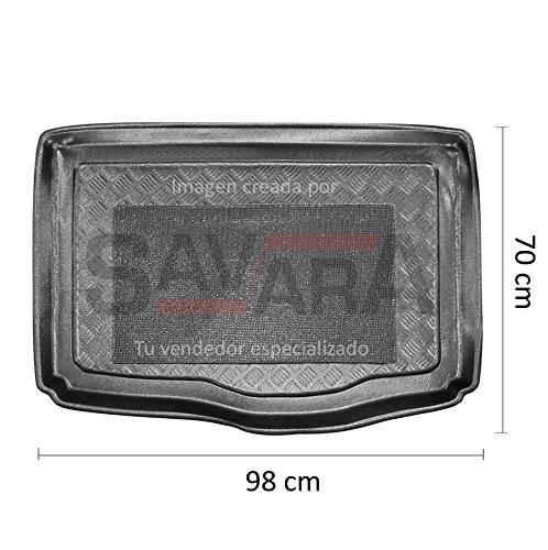 Protector de maletero específico para Fiat Punto Evo 3/5 puertas (2009-2012) - Antiderrames, antideslizante, lavable. Cubeta, alfombra de plástico