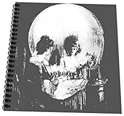 3dRose db_46711_3 All Is Vanity-ghost, Halloween, optical illusion, paranormal, seasonal, silhouette, skeleton-Mini Notepad, 4 by 4