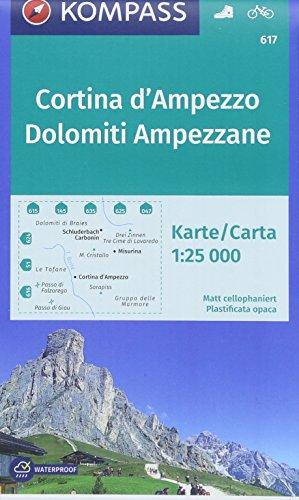 Cortina d'ampezzo/dolomiti ampezzane 617  1/25.000 par KOMPASS-Karten