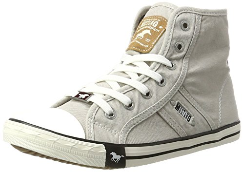 MUSTANG Damen 1099-502-22 High-Top, Grau (22 hellgrau), 40 EU