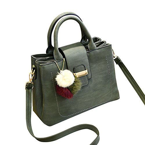 Flada, Borsa a tracolla donna nero Black medium Green
