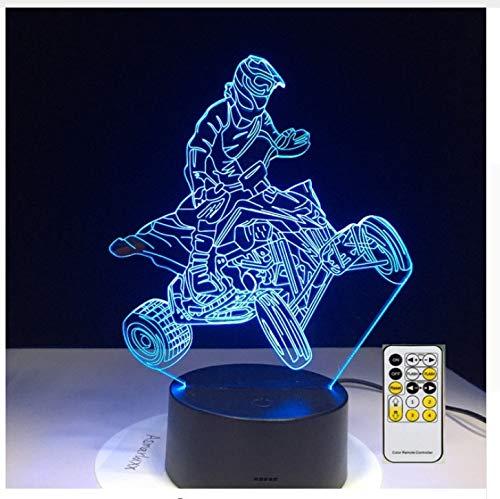 4 Räder Berg Auto Motor Racing Sport 3D Lampen 7 Farbe Usb Nachtlampe Led-Leuchten Für Kinder Geburtstagsgeschenk
