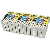 TONER EXPERTE® Sostituzione per Epson 16 16XL T1636 12 Cartucce d'inchiostro compatibili con Epson Workforce WF-2010W WF-2510WF WF-2520NF WF-2530WF WF-2630WF WF-2650DWF WF-2660DWF WF-2540W   Alta Capacità