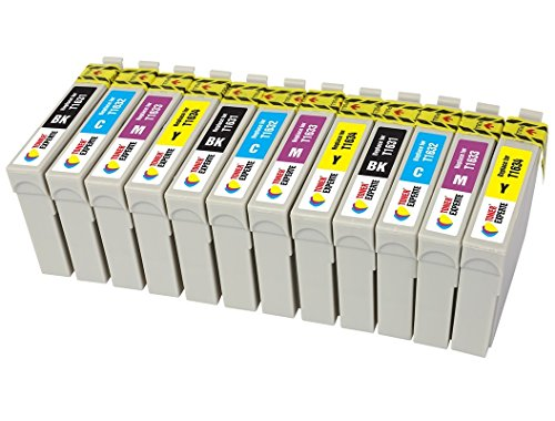 TONER EXPERTE Sostituzione per Epson 16 16XL T1636 12 Cartucce d'inchiostro compatibili con Epson Workforce WF-2010W WF-2510WF WF-2520NF WF-2530WF WF-2630WF WF-2650DWFWF-2540WF | Alta Capacità