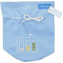 Sac bleu clair pour câble de chargeur 100% coton avec une jolie broderie du label allemand Ringelsuse