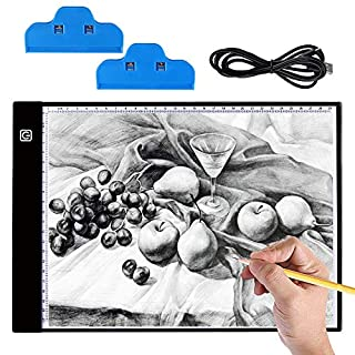 5D Diamond Painting LED Light Pad Board, Hisome Ultrathin 3.5mm A4 USB LED Tablet Box for Drawing Sketching Diamond Painting Kits Full Drill Artcraft