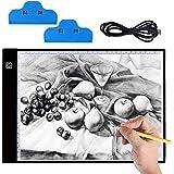 Mesa de Luz Dibujo A4, Hisome Ultrathin 3.5mm A4 USB LED Tablet Box Tracer Para Dibujo, Bocetos, Pintura Diamante Artcraft Tattoo Acuarela Acolchado Rastreo por Número Kit con 2 Clips