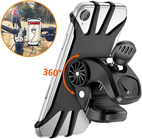 Vobon Handyhalterung Fahrrad, 360° Drehbare Handyhalter Fahrrad, Universal Handyhalterung Motorrad für alle 4,5-6.5 Zoll Handys, iPhone X/ XR/ XS MAX/8/7/6 Plus, Samsung Galaxy S10/S10e/ S10/S9 Plus