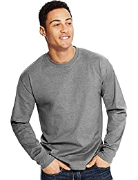 Hanes X-Temp Men's Long-Sleeve T-Shirt_Ebony_S