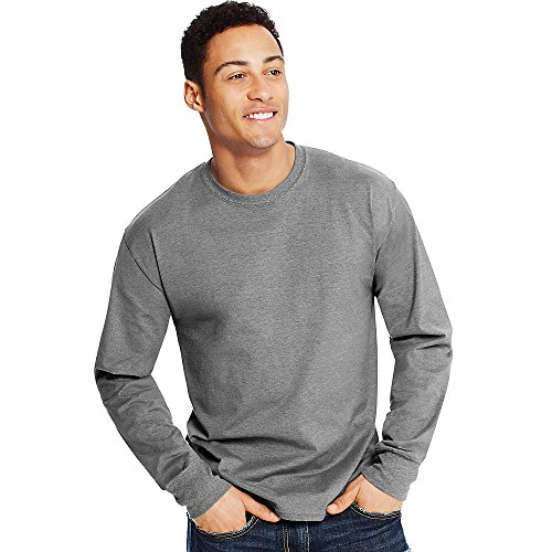 Hanes X-Temp Men's Long-Sleeve T-Shirt_Ebony_S