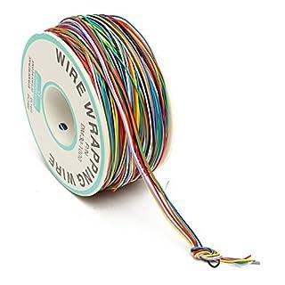 8-Wire farbige isolierte Kabel 250M Draht wickeln Kabel wickeln Rolle P / N B-30-1000 30AWG