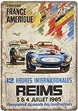 Heures Internationales Reims Blechschilder Vintage Metall
